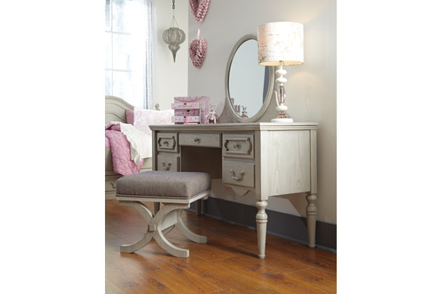 Abrielle Vanity by Ashley HomeStore, Gray
