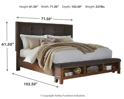 Picture of: Ralene Queen Upholstered Panel Bed Ashley Furniture Homestore