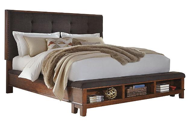 Ralene King Upholstered Panel Bed Ashley Furniture Homestore