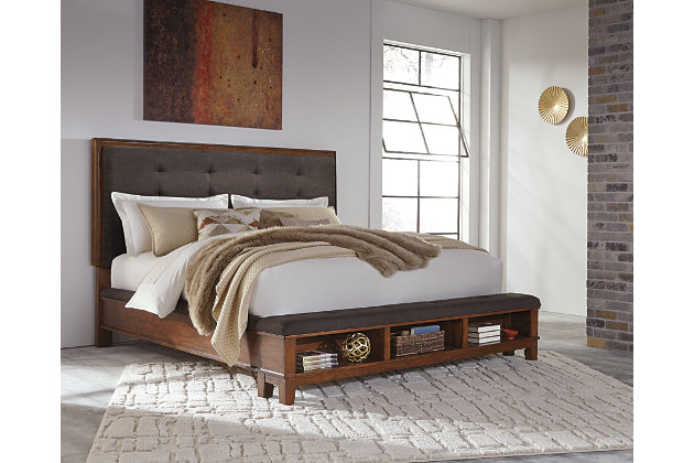 Ralene Queen Upholstered Panel Bed Ashley Furniture