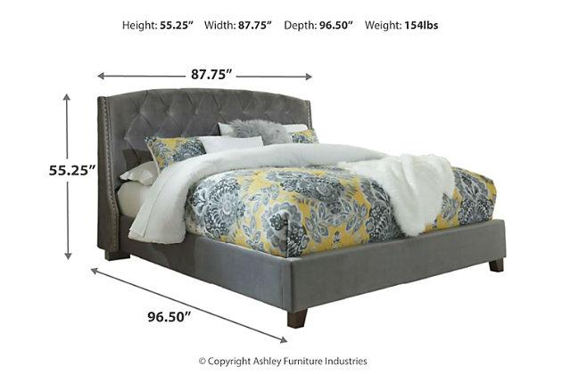 Kasidon King Tufted Bed, Multi, large