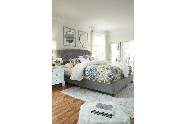 Kasidon California King Tufted Bed, Multi, large