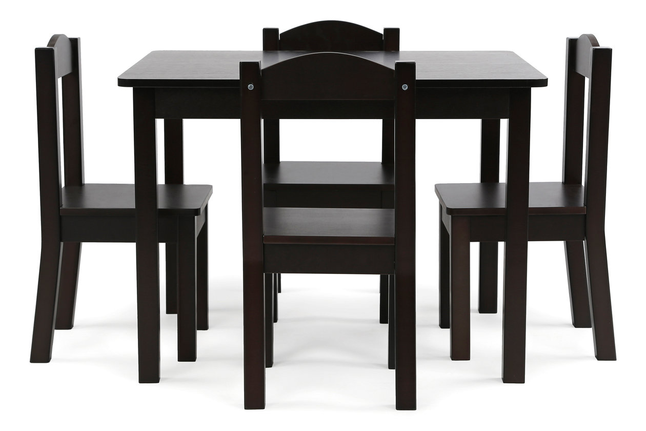 Fine Kids Brooklyn Wood Table And Four Chairs Set Ashley Pdpeps Interior Chair Design Pdpepsorg