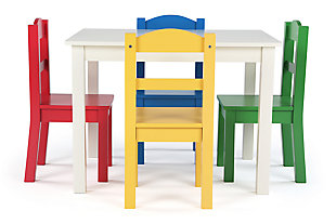 Kids Brinx Wood Table and Four Chairs Set, , large