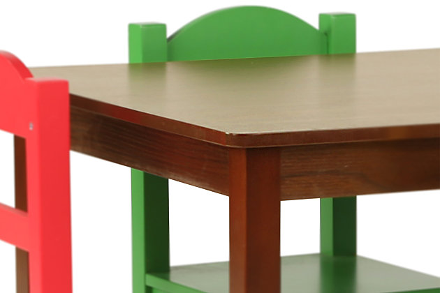Discover Wood Table and Four Chairs Set, , large