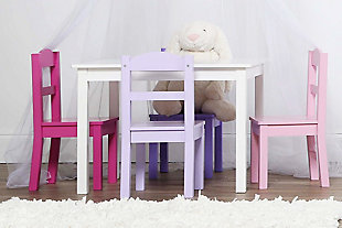 Kids Forever Wood Table and Four Chairs Set, , rollover
