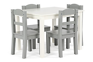 Springfield Wood Table and Four Chairs Set, , large