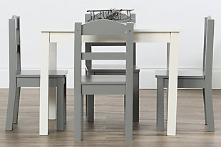 Kids Springfield Wood Table and Four Chairs Set, , rollover