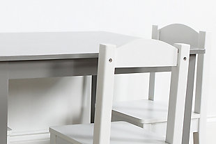 Kids Brickmill Wood Table and Four Chairs Set, , large