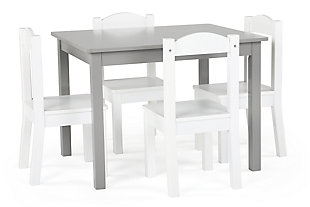 Brickmill Wood Table and Four Chairs Set, , large