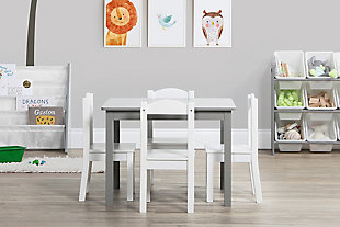 Brickmill Wood Table and Four Chairs Set, , rollover