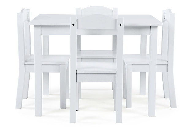 Kids Savvi Wood Table and Four Chairs Set, , large