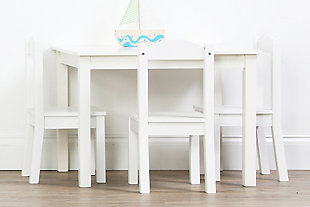 Kids Savvi Wood Table and Four Chairs Set, , rollover