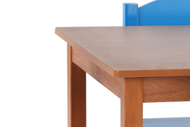 Highlight Wood Table and Four Chairs Set, , large