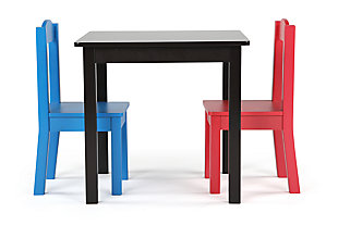 Kids Alexi Wood Table and Two Chairs Set, , large