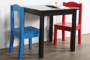Kids Alexi Wood Table and Two Chairs Set, , rollover