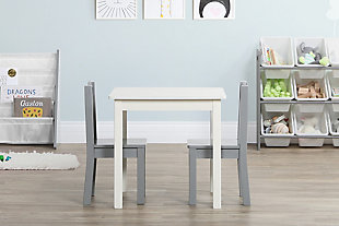 Kids Brickmill Wood Table and Two Chairs Set, , rollover