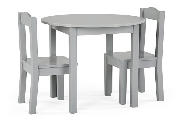 Brickmill Wood Table and Chairs Three Piece Set, , large