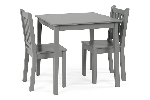 Kids Explorer Wood Table and Chairs Three Piece Set, , large