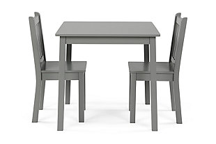 Explorer Wood Kids Table and Chairs Three Piece Set, , large