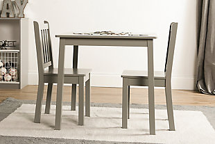 Explorer Wood Kids Table and Chairs Three Piece Set, , rollover