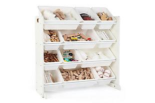 Kids Savvi Toy Storage Organizer with Twelve Plastic Bins, , large