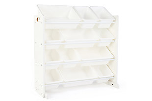 Savvi Toy Storage Organizer with Twelve Plastic Bins, , large