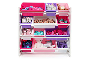 Mani Toy Storage Organizer with Twelve Plastic Bins, , rollover