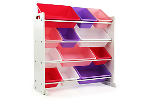 Kids Mani Toy Storage Organizer with Twelve Plastic Bins, , large