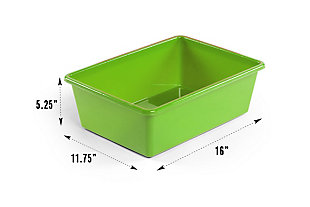 Kids Discover Super-Sized Toy Organizer with Sixteen Plastic Bins, , large