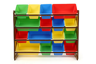 Discover Super-Sized Toy Organizer with Sixteen Plastic Bins, , large