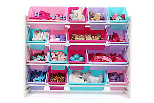 Kids Forever Super-Sized Toy Organizer with Sixteen Plastic Bins, , large
