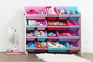Kids Forever Super-Sized Toy Organizer with Sixteen Plastic Bins, , rollover