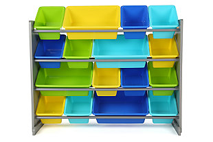 Kids Forest Super-Sized Toy Organizer with Sixteen Plastic Bins, , large