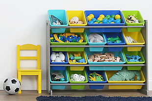 Forest Super-Sized Toy Organizer with Sixteen Plastic Bins, , rollover