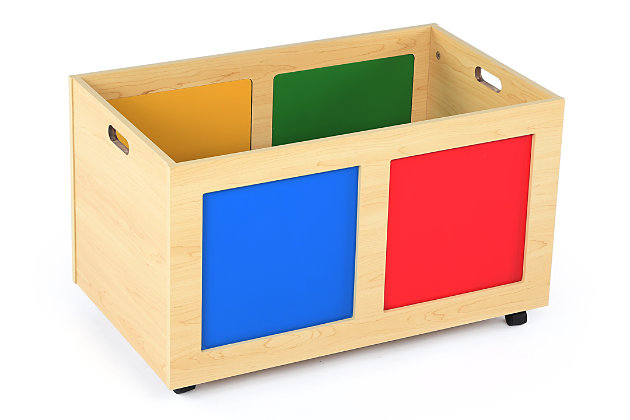 Kids Primary Rolling Toy Box, , large