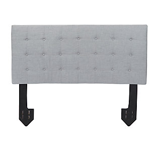 Callie Queen Tufted Powered Headboard, Light Gray, large