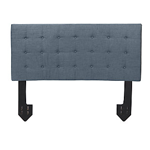 Callie Queen Tufted Powered Headboard, Dark Gray, large