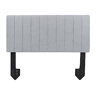 Carrie Queen Channel Tufted Powered Headboard, Light Gray, large