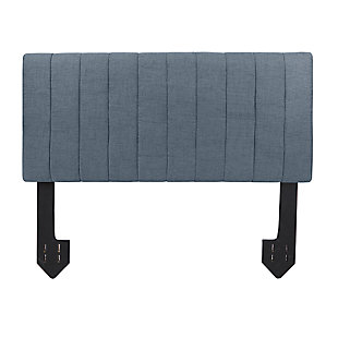 Carrie Queen Channel Tufted Powered Headboard, Dark Gray, large