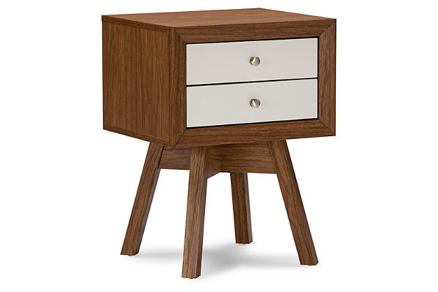 Warwick Two-tone Walnut and White Accent Table and Nightstand, , large