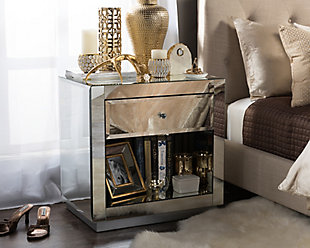Rochadh Nightstand Bedside Table, , rollover