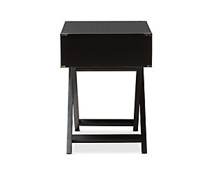 Curtice 1-Drawer Wooden Bedside Table, , large