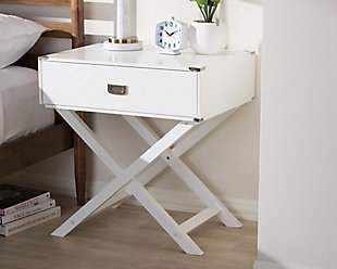 Curtice 1-Drawer Wooden Bedside Table, , rollover