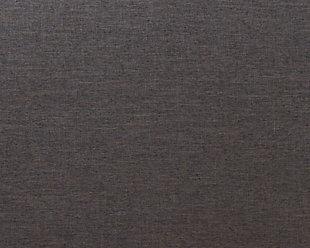 Nail Head Upholstered Queen Headboard, Dark Gray, large