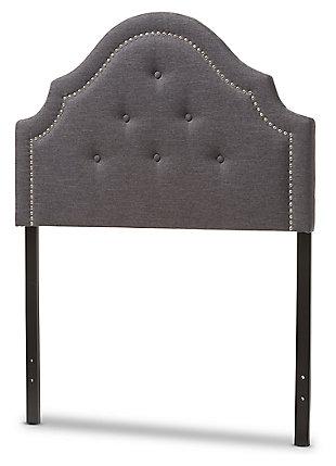 Cora Upholstered Twin Headboard, Dark Gray, large
