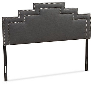 Angled King Headboard, Dark Gray, large