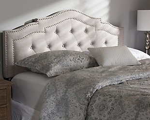 Edith Queen Headboard, Gray/Beige, rollover