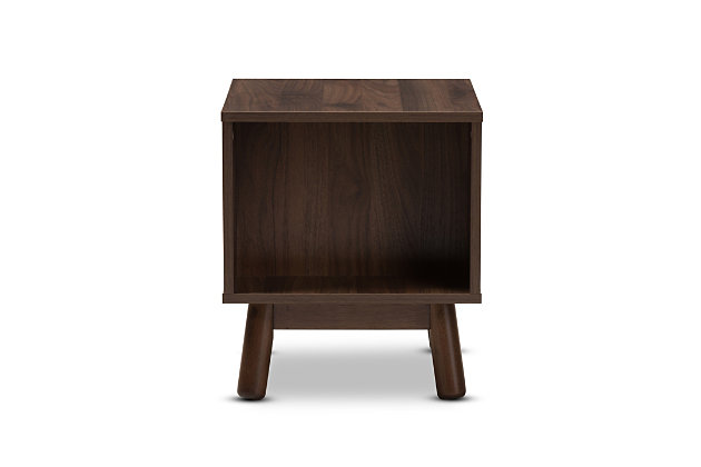 Britta Two-Tone Finished Wood Nightstand, , large