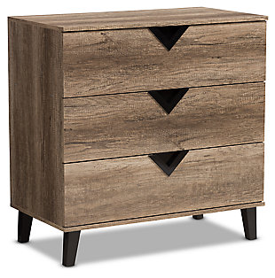 3 Drawer Wood Chest, , large